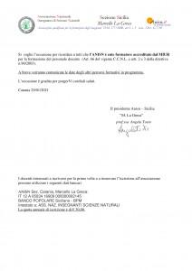 lettera docenti Corso sui virus febbraio 2021-2